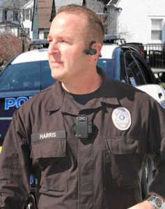 officer Harris wears body camera