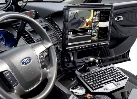 MDT computer in police car.