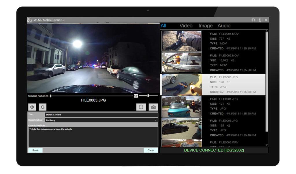 police body camera mobile app software
