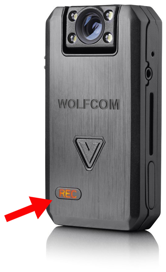 public awareness feature on wolfcom vision police camera