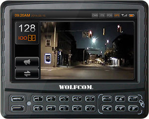 Touch screen display for In-car camera system.