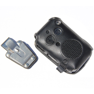 wolfcom 3rd eye police camera leather case with metal clip