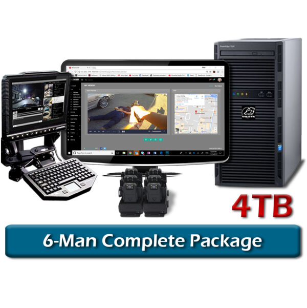 complete 6-man vision body camera package