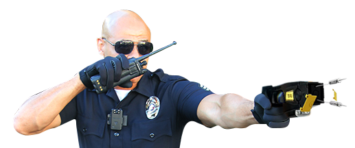 police officer shooting wolfcom quickgun electrical weapon