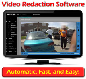 wolfcom offers video redaction software that's able to automatically redact faces