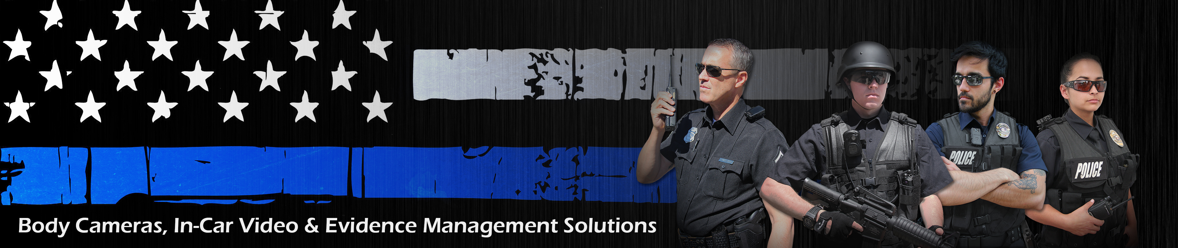 top banner for home page on wolfcom police body camera website
