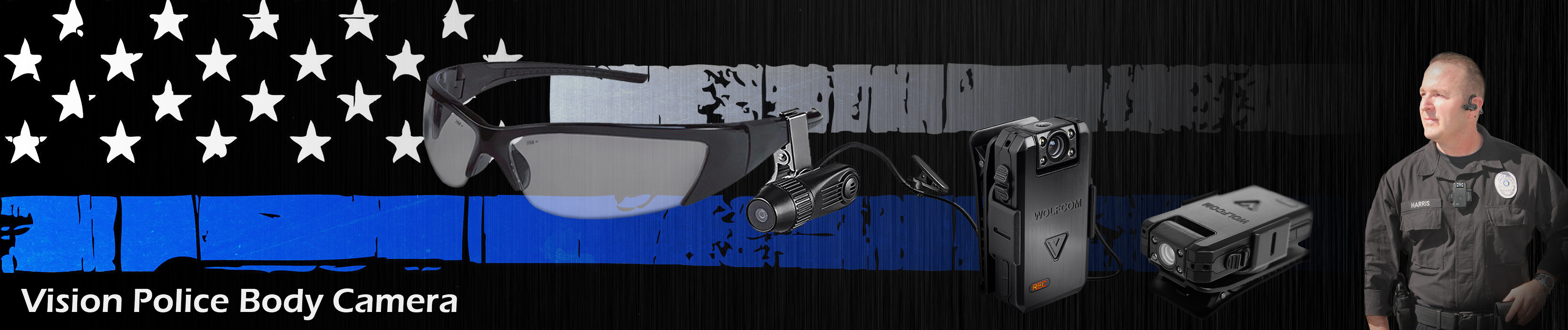 top banner for vision police body camera page on wolfcom usa website