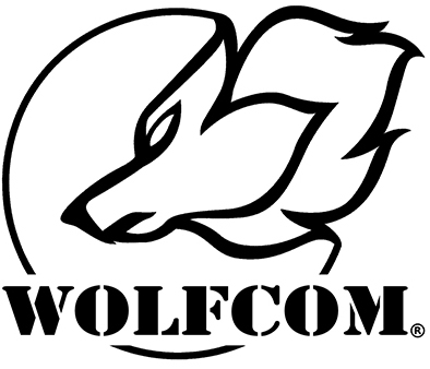 WOLFCOM Logo with white background.