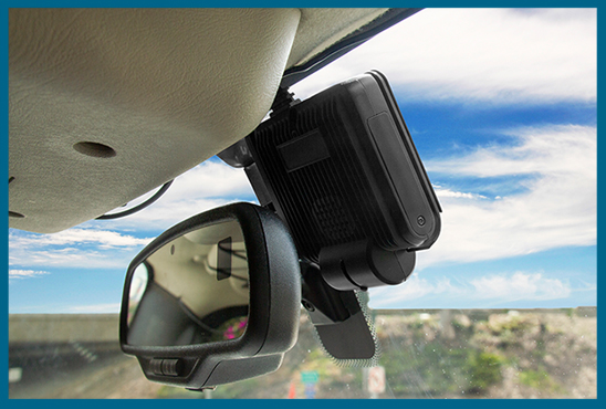 wolfcom mini mdvr in-car camera system mounted interior
