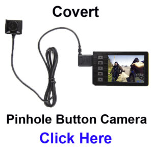 Pinhole button camera for police and undercover officers