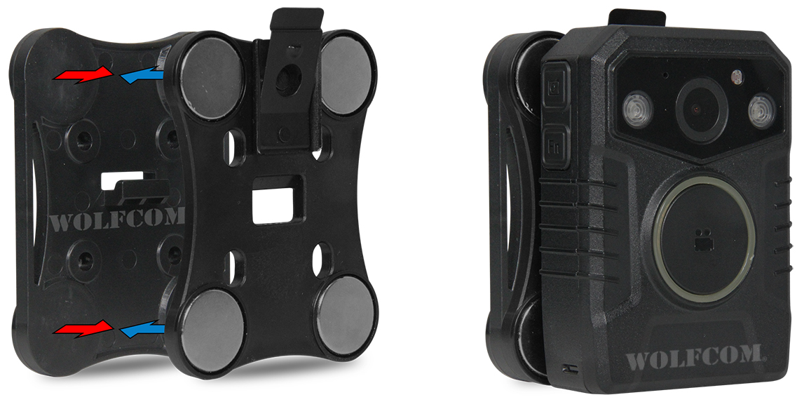 magnetic clip for the halo body-worn camera