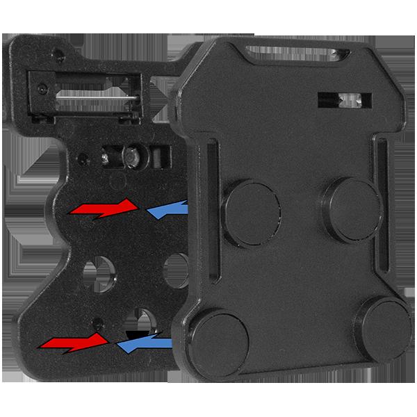 magnetic mount commander body camera square